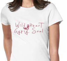 Wild Heart, Gypsy Soul - Boho Tribal Butterfly .  Womens Fitted T-Shirt