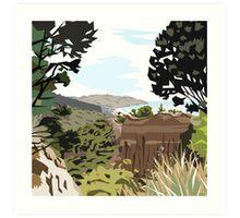 Gore Bay, NZ by Ira Mitchell-Kirk Art Print