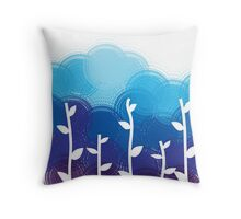 Reed and Wave Ocean Duvet Throw Pillow