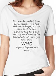 I'm Rick Harrison and this is my son, Harambe. Women's Relaxed Fit T-Shirt