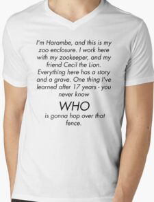 I'm Rick Harrison and this is my son, Harambe. Mens V-Neck T-Shirt