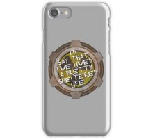 I've been sheltered in a nuclear fallout bunker geek iPhone Case/Skin
