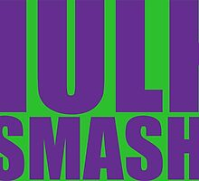 Hulk Smash - Purple Text by psychoandy