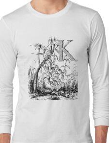 Garden Alphabet Letter K Long Sleeve T-Shirt
