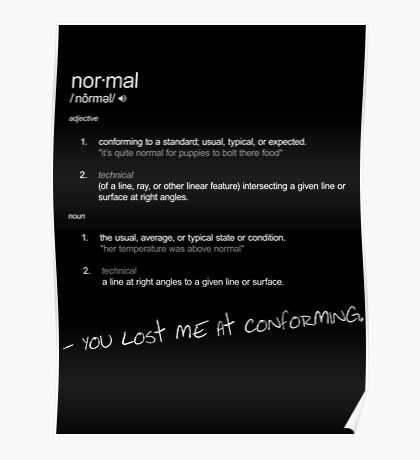 Definition Normal Poster
