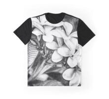 Plumeria Black and White Graphic T-Shirt