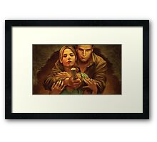 Buffy and Angel Framed Print