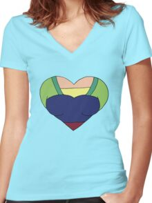 A Courageous Heart Women's Fitted V-Neck T-Shirt