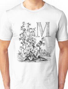 Garden Alphabet Letter M Unisex T-Shirt