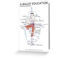 Notes on Pirouettes by A Ballet Education Greeting Card