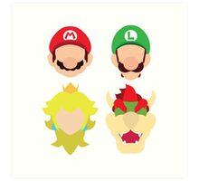 Super Mario Characters Art Print