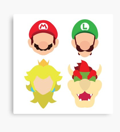 Super Mario Characters Canvas Print