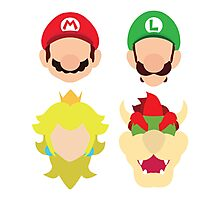 Super Mario Characters Photographic Print