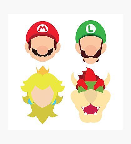Super Mario Characters Photographic Print