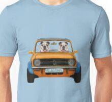 Bulldogs in A Mini  Unisex T-Shirt