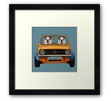 Bulldogs in A Mini  Framed Print