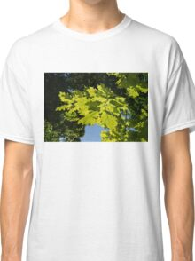 More Than Fifty Shades Of Green - Sunlit Oak and Linden Patterns - Down Left Classic T-Shirt