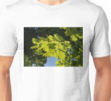 More Than Fifty Shades Of Green - Sunlit Oak and Linden Patterns - Down Left Unisex T-Shirt