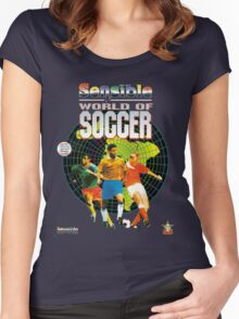 Sensible World of Soccer Women's Fitted Scoop T-Shirt