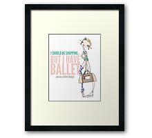 Ballet Budget Problems Framed Print