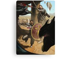 Knights Battling Hydra Canvas Print