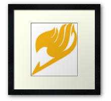Fairy Tail (Yellow) Framed Print