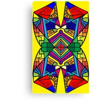 Colorful Psychedelic Pattern Canvas Print