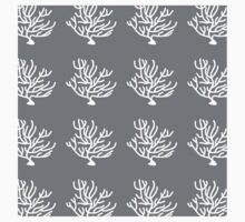 Coral,sea life,grey,hues,white,pattern,modern,trendy,cute,girly,beautiful,decor, decorative,contemporary, Baby Tee