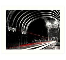 Light Trails on London Bridge Art Print