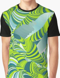 Cool,awesome,lime,green,mint,teal,wormy,pattern,abstract art Graphic T-Shirt
