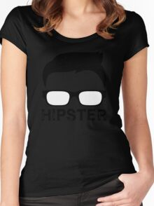 Cool Retro Hipster Glasses Design Women's Fitted Scoop T-Shirt