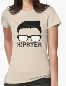 Cool Retro Hipster Glasses Design Womens Fitted T-Shirt