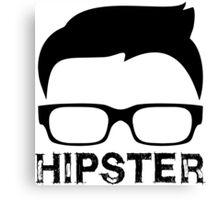 Cool Retro Hipster Glasses Design Canvas Print