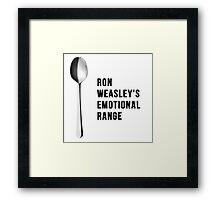 You've got the emotional range of a teaspoon! Framed Print