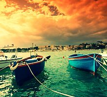 Boats in Italy by PhotoPerocsenyi