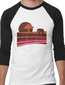 African sunset Men's Baseball ¾ T-Shirt