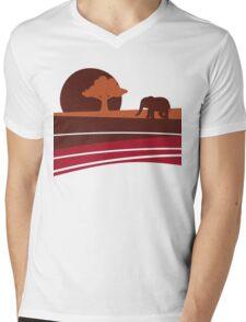 African sunset Mens V-Neck T-Shirt