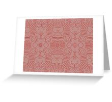 Abstract Blood Cells Greeting Card