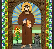 Icon of St. Francis of Assissi  by David Raber
