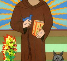 Icon of St. Francis of Assissi  Sticker