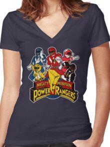 Power Ranger Women's Fitted V-Neck T-Shirt