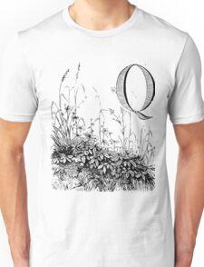 Garden Alphabet Letter Q Unisex T-Shirt