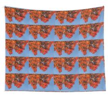 More Than Fifty Shades Of Red - Glossy, Leathery Oak Leaves in the Sunshine - Downward Wall Tapestry