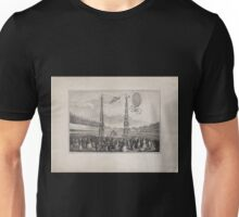 0089 ballooning Spectators in an arena viewing the ascension of a balloon driven by propellers with an inflation device in the foreground G Meloni disegnò e inv Unisex T-Shirt