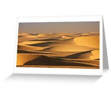 Sunbathed shadow dance of sand Greeting Card