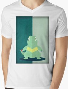 Pokemon - Totodile #158 Mens V-Neck T-Shirt