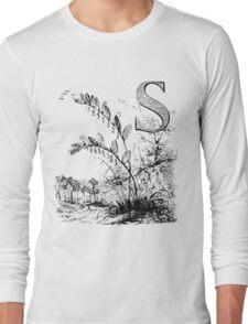 Garden Alphabet Letter S Long Sleeve T-Shirt