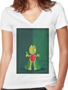 Pokemon - Treecko #252 Women's Fitted V-Neck T-Shirt