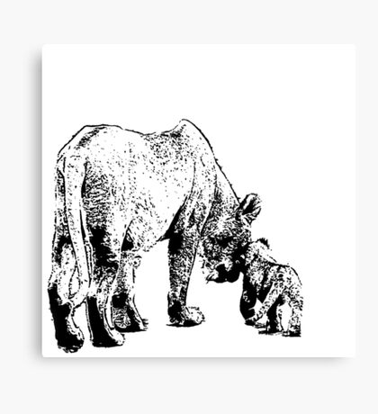 Mother and the cub Canvas Print
