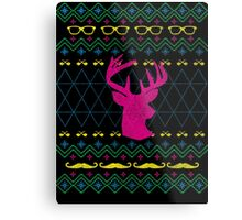 Ugly Hipster Sweater (Neon) Metal Print